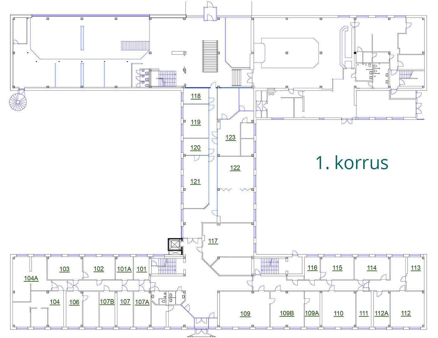 Äripinnad Tallinnas | Susi Bürookeskuse 1. korrus