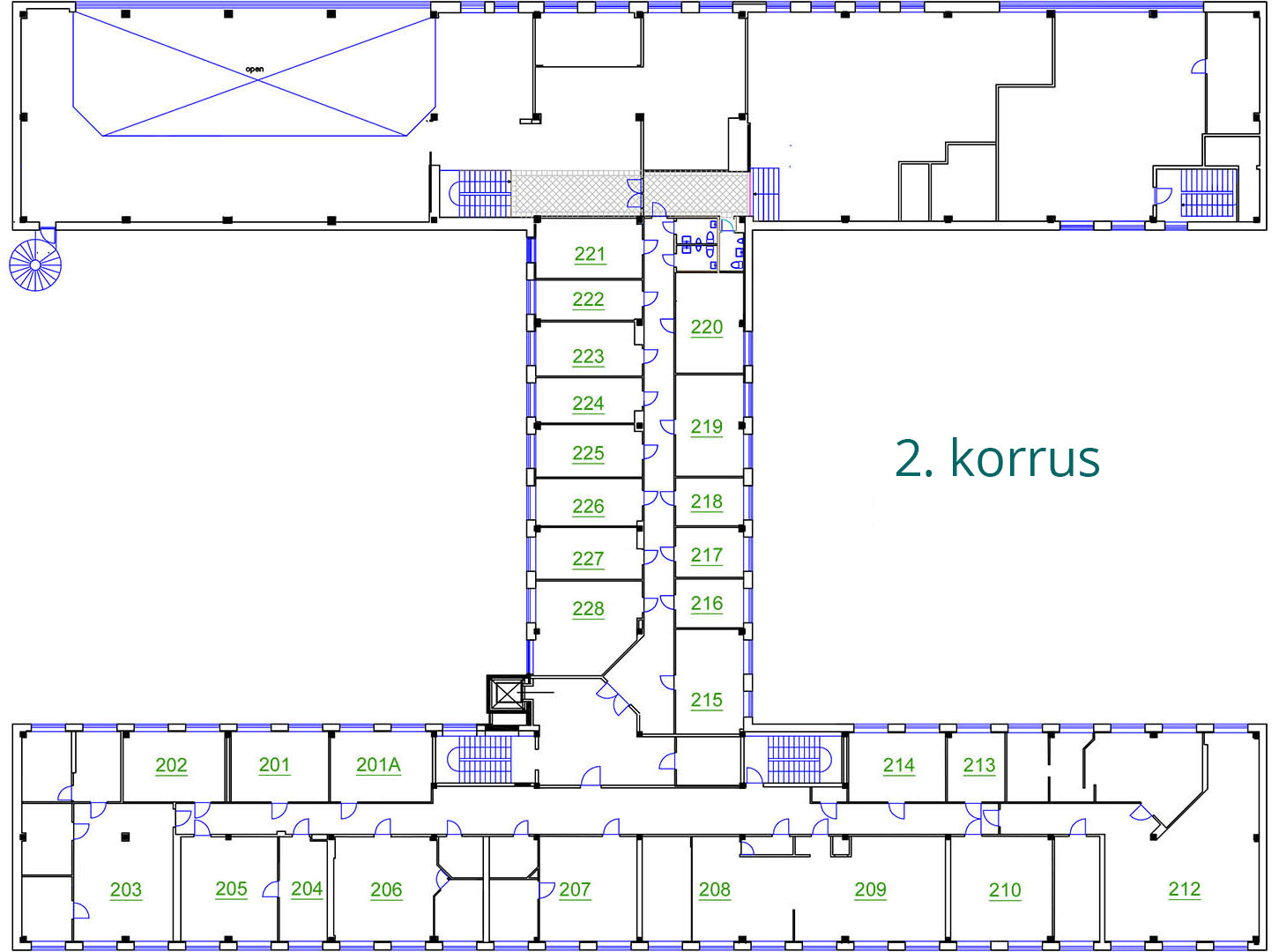 Äripinnad Tallinnas | Susi Bürookeskuse 2. korrus