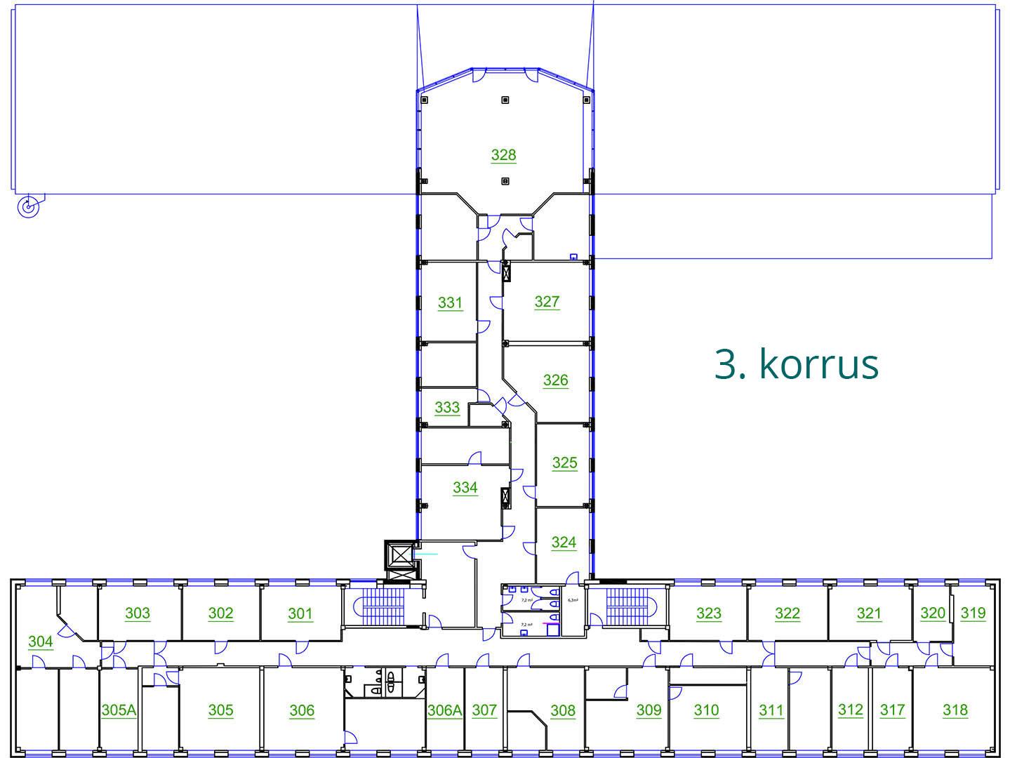 Äripinnad Tallinnas | Susi Bürookeskuse 3. korrus