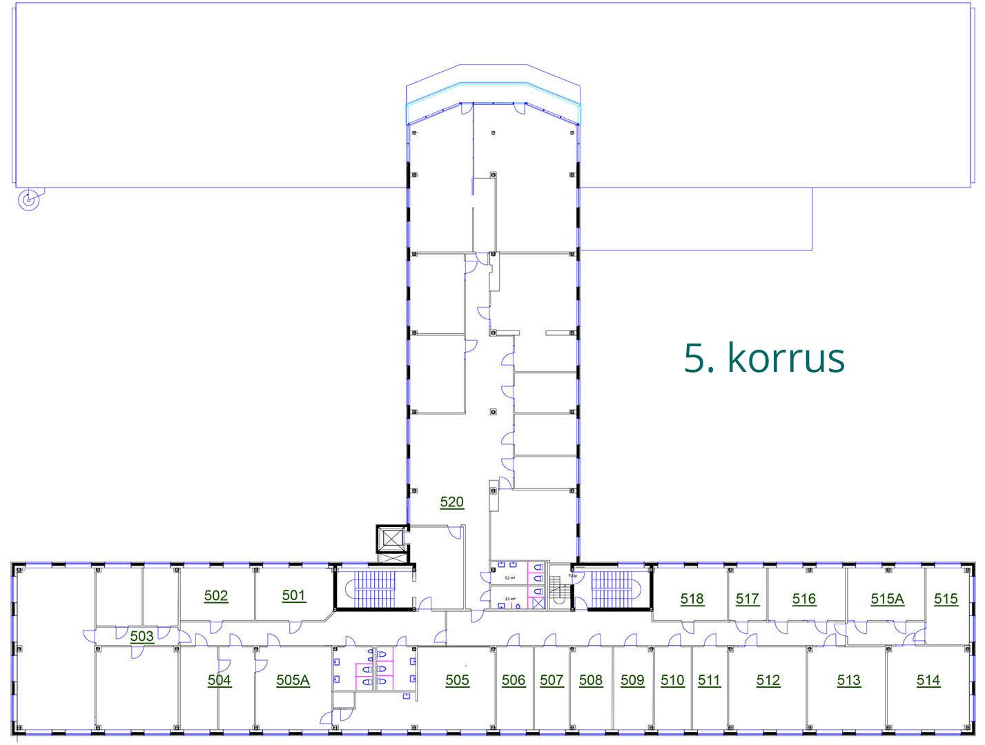 Äripinnad Tallinnas | Susi Bürookeskuse 5. korrus